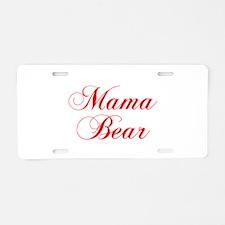 Mama Bear-Cho red 300 Aluminum License Plate