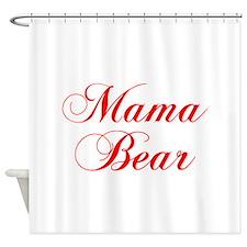 Mama Bear-Cho red 300 Shower Curtain
