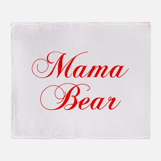 Mama Bear-Cho red 300 Throw Blanket