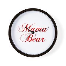 Mama Bear-Cho red 300 Wall Clock