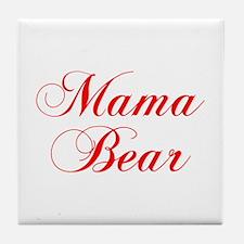 Mama Bear-Cho red 300 Tile Coaster