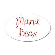 Mama Bear-MAS red 400 Wall Decal