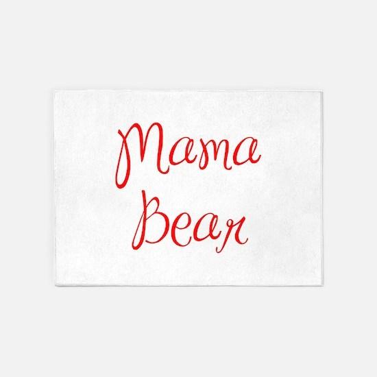 Mama Bear-MAS red 400 5'x7'Area Rug