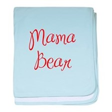 Mama Bear-MAS red 400 baby blanket