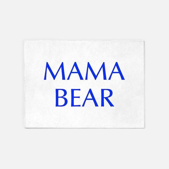 Mama Bear-Opt blue 550 5'x7'Area Rug