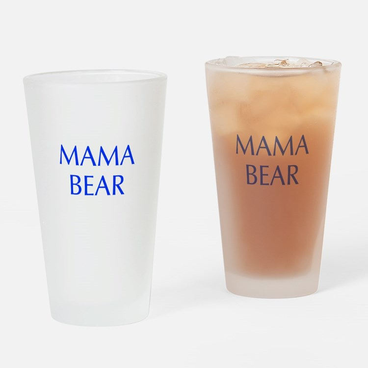 Mama Bear-Opt blue 550 Drinking Glass