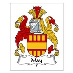 May Family Crest Small Poster