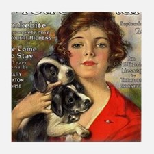 old time magazine cover Tile Coaster