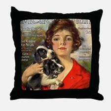 old time magazine cover Throw Pillow