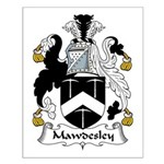 Mawdesley Family Crest Small Poster