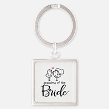 Grandma of The Bride Square Keychain