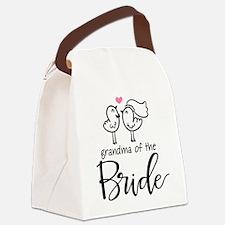Grandma of The Bride Canvas Lunch Bag