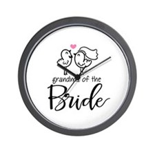 Grandma of The Bride Wall Clock