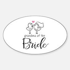 Grandma of The Bride Sticker (Oval)