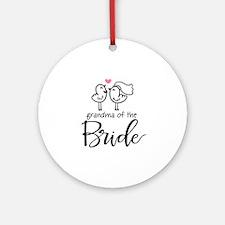 Grandma of The Bride Ornament (Round)