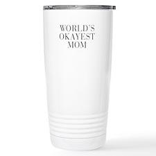 WORLD S OKAYEST MOM-Bau gray 500 Travel Mug
