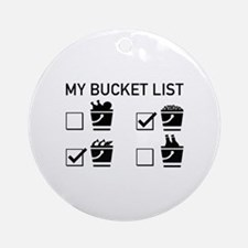 My Bucket List Ornament (Round)
