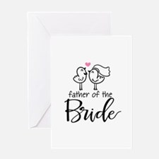 Cute father of the Bride Greeting Card