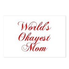 World s Okayest Mom-Cho red 300 Postcards (Package
