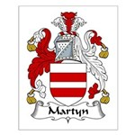 Martyn Family Crest Small Poster