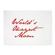 World s Okayest Mom-Jan red 400 5'x7'Area Rug