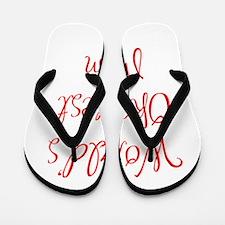World s Okayest Mom-MAS red 400 Flip Flops