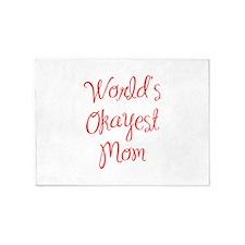World s Okayest Mom-MAS red 400 5'x7'Area Rug