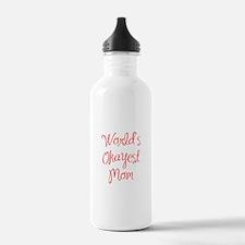 World s Okayest Mom-MAS red 400 Water Bottle