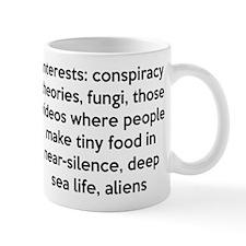 Interests Mugs