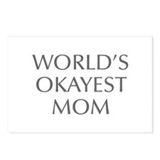 World s Okayest Mom-Opt gray 550 Postcards (Packag
