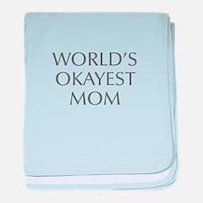World s Okayest Mom-Opt gray 550 baby blanket