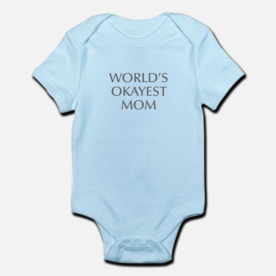 World s Okayest Mom-Opt gray 550 Body Suit