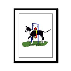 A Great Dane Mantle Agility e Framed Panel Print