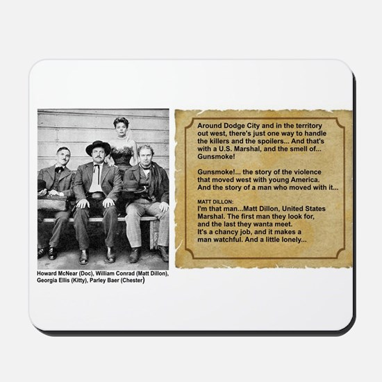 GUNSMOKE. OLD TIME RADIO Mousepad