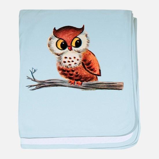 Vintage Owl baby blanket