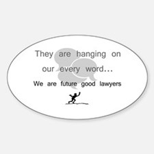 """""""Future Lawyers"""" Oval Decal"""