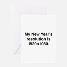 My New Year's Resolution Greeting Card