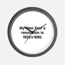 My New Year's Resolution Wall Clock