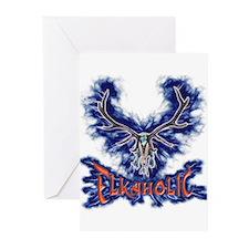 Elkaholic elk Skull Greeting Cards (Pk of 10)