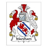 Marsham Family Crest Small Poster