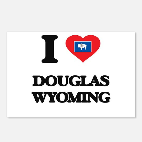I love Douglas Wyoming Postcards (Package of 8)