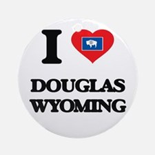 I love Douglas Wyoming Ornament (Round)