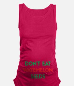 Watermelon Seeds Maternity Tank Top