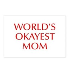 World s Okayest Mom-Opt red 550 Postcards (Package