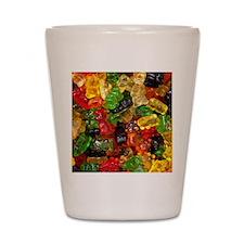 cute gummy bears Shot Glass