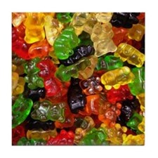 cute gummy bears Tile Coaster