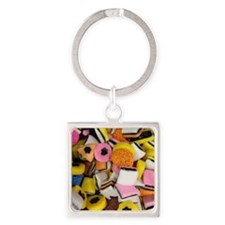 Cute Candy Square Keychain