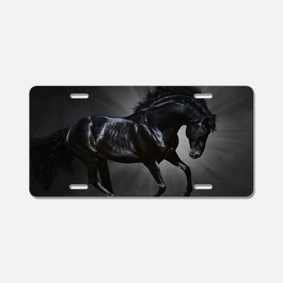 Dark Horse Aluminum License Plate