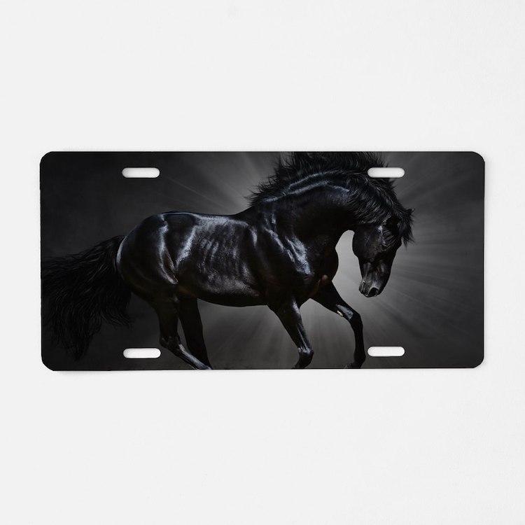 Dark Horse Aluminum License Plate