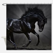 Dark Horse Shower Curtain